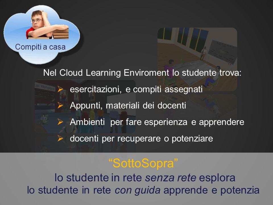 Le Scuole 2.0 insieme Possono creare e contribuire al Cloud learning enviroment Fare rete tra I propri docenti Offrire scambi per le esperienze online degli studenti …….