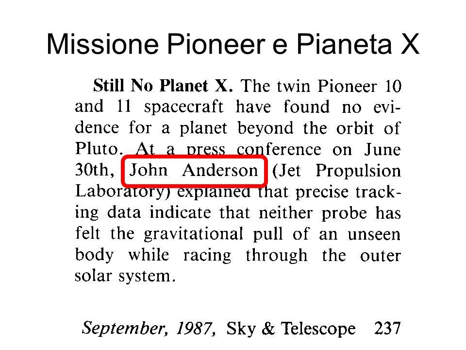 Missione Pioneer e Pianeta X