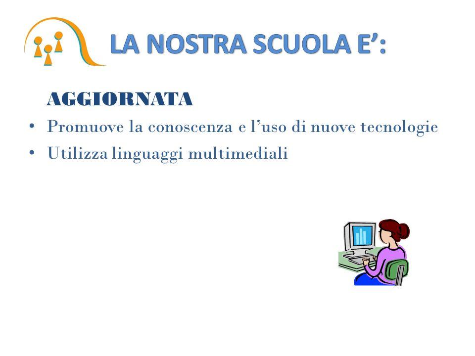 AGGIORNATA Promuove la conoscenza e luso di nuove tecnologie Utilizza linguaggi multimediali