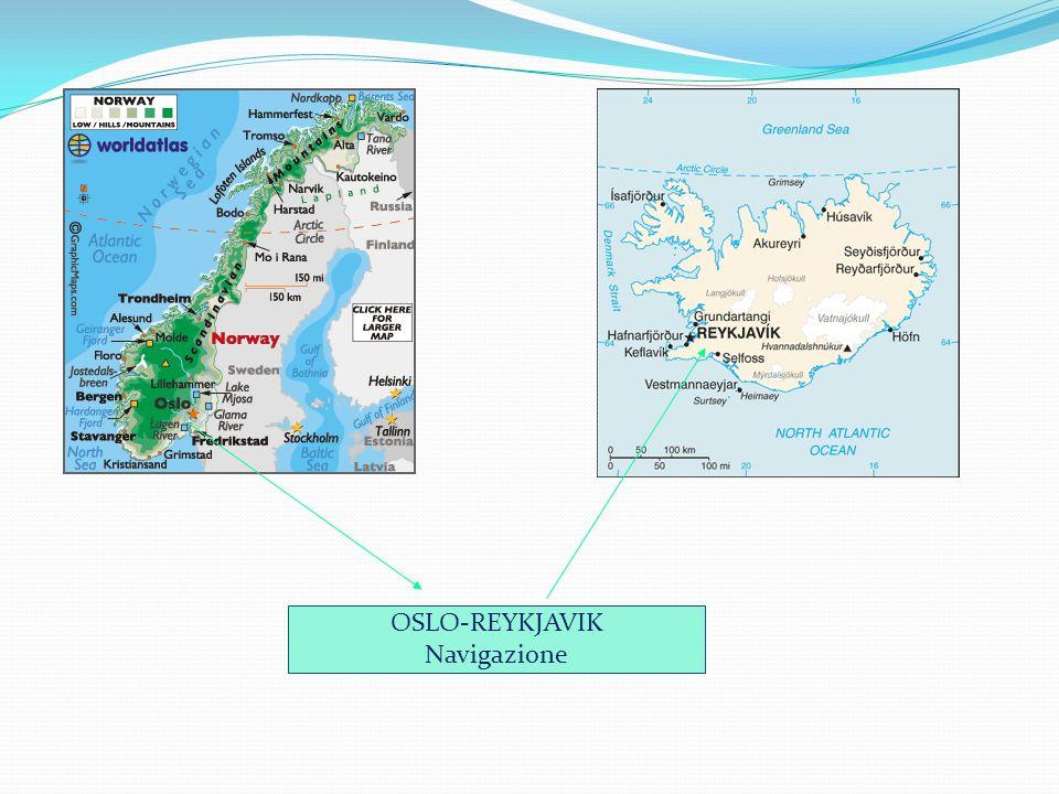 OSLO-REYKJAVIK Navigazione