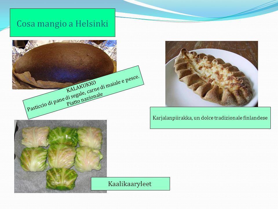Cosa mangio a Helsinki KALAKUKKO Pasticcio di pane di segale, carne di maiale e pesce.
