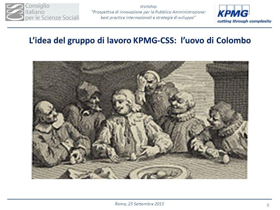 Workshop Prospettive di innovazione per la Pubblica Amministrazione: best practice internazionali e strategie di sviluppo 8 Roma, 23 Settembre 2013 Li