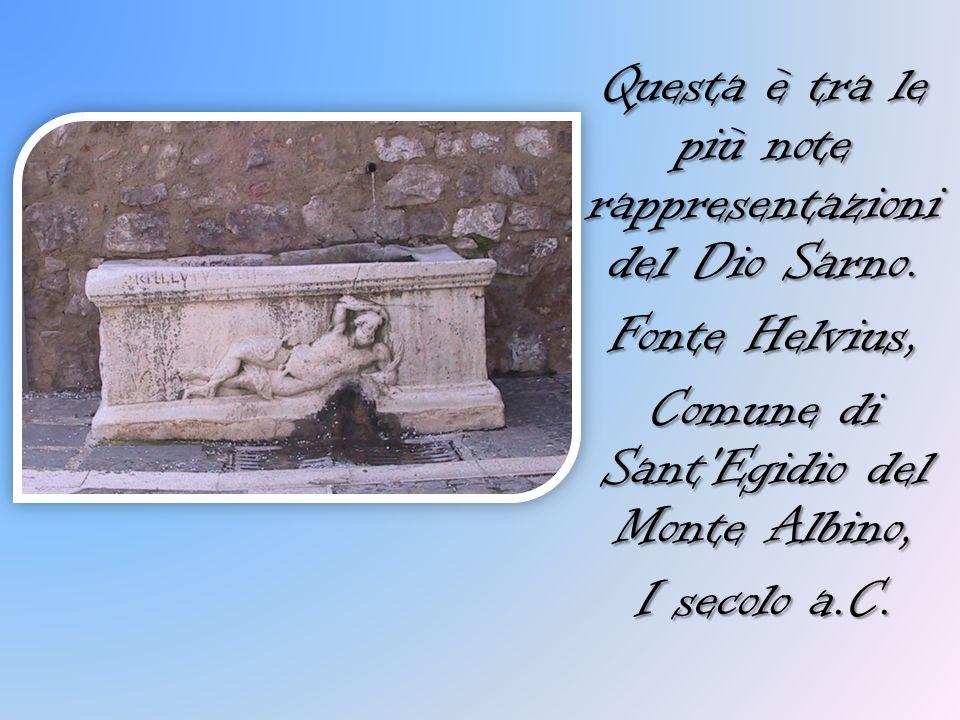 Questa è tra le più note rappresentazioni del Dio Sarno. Fonte Helvius, Comune di Sant'Egidio del Monte Albino, I secolo a.C.