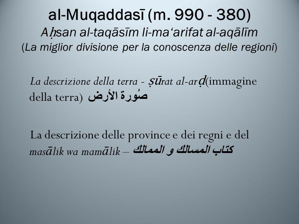 al-Muqaddasī (m.