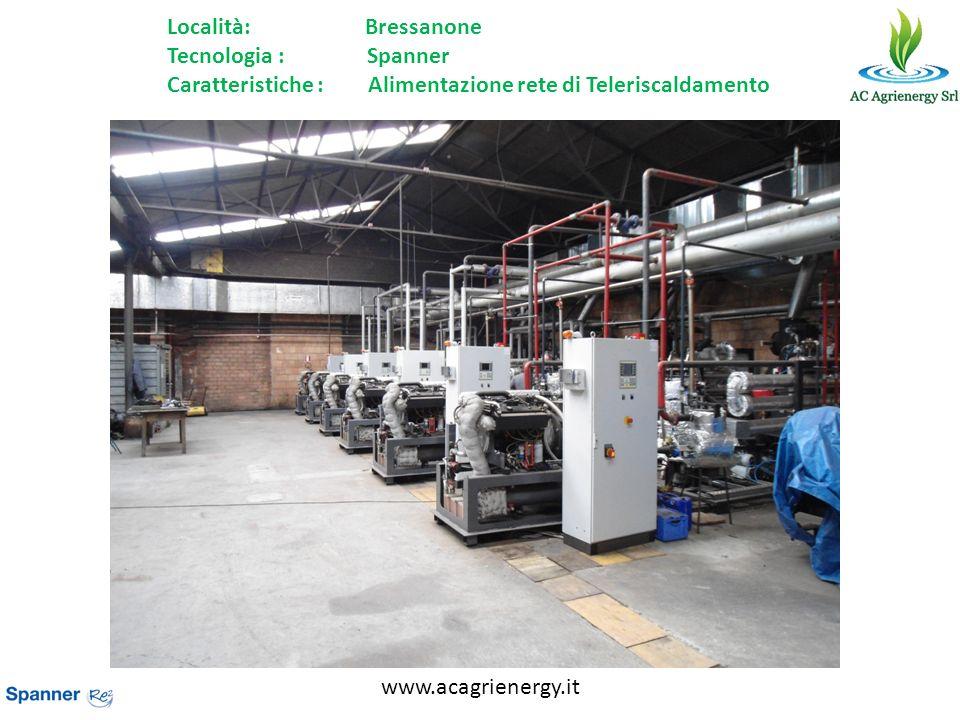 www.acagrienergy.it Località: Bressanone Tecnologia : Spanner Caratteristiche : Alimentazione rete di Teleriscaldamento