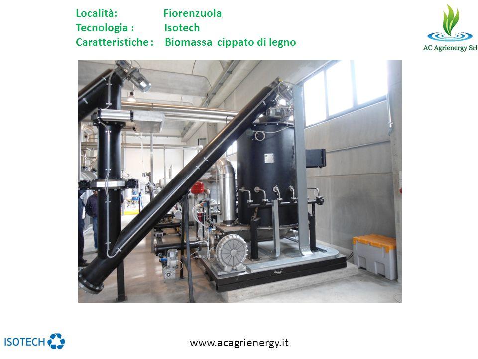 www.acagrienergy.it Località: Fiorenzuola Tecnologia : Isotech Caratteristiche : Biomassa cippato di legno
