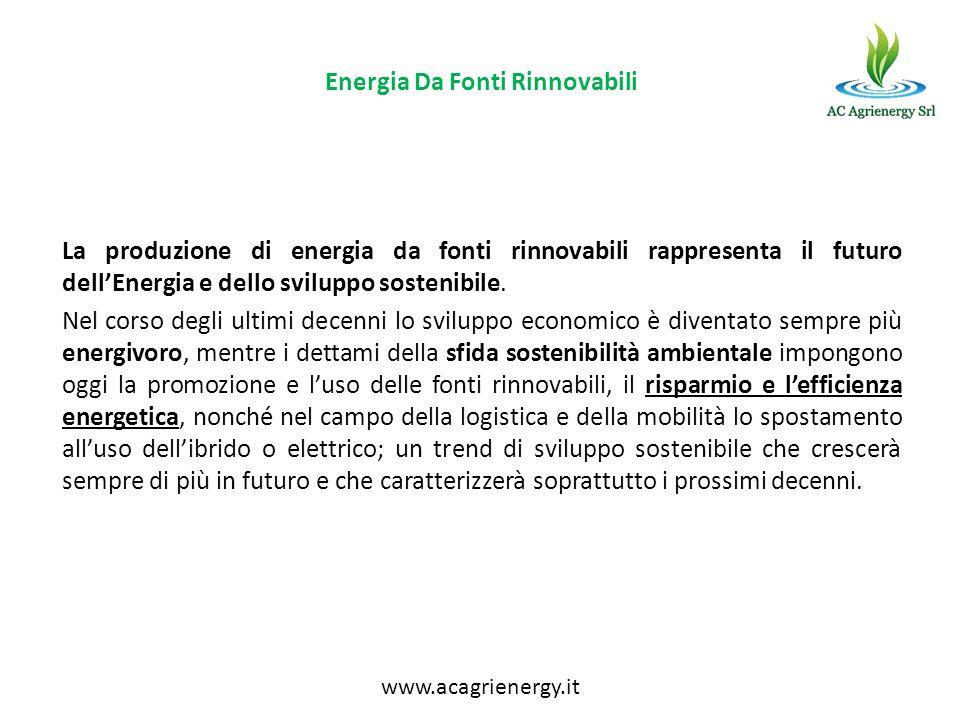 Energia Da Fonti Rinnovabili La produzione di energia da fonti rinnovabili rappresenta il futuro dellEnergia e dello sviluppo sostenibile. Nel corso d
