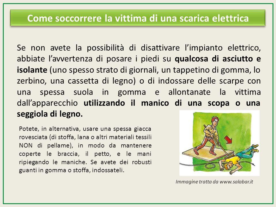 Se non avete la possibilità di disattivare limpianto elettrico, abbiate lavvertenza di posare i piedi su qualcosa di asciutto e isolante (uno spesso s