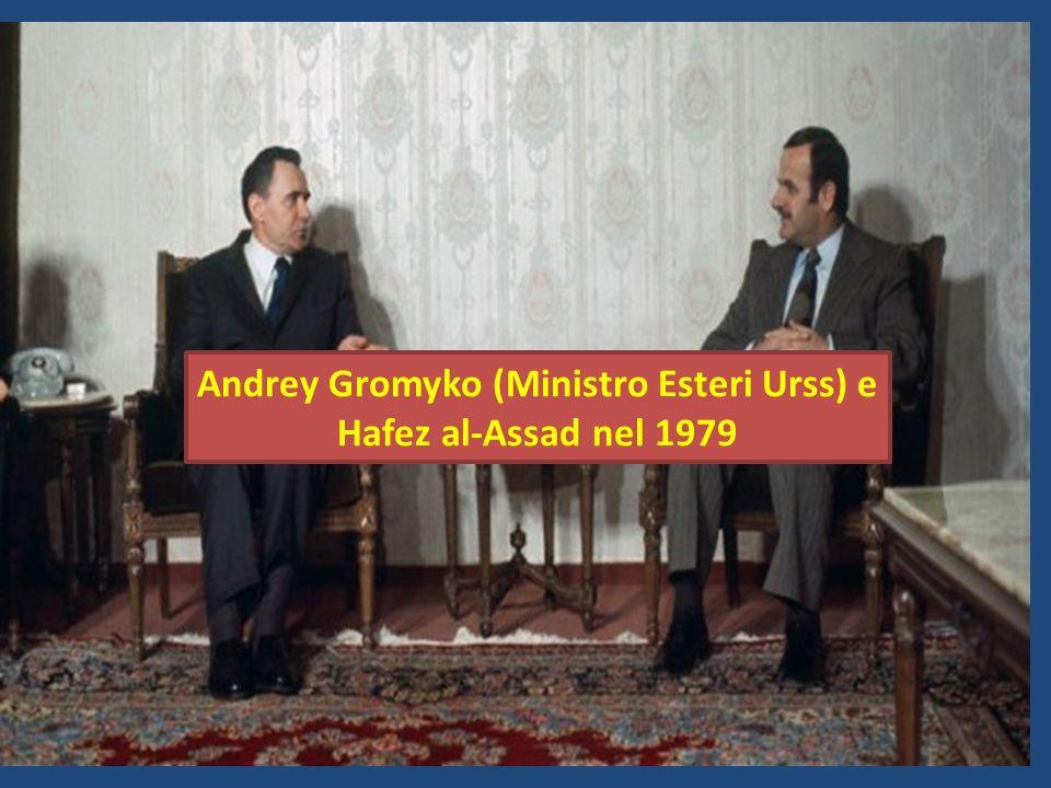 Andrey Gromyko (Ministro Esteri Urss) e Hafez al-Assad nel 1979