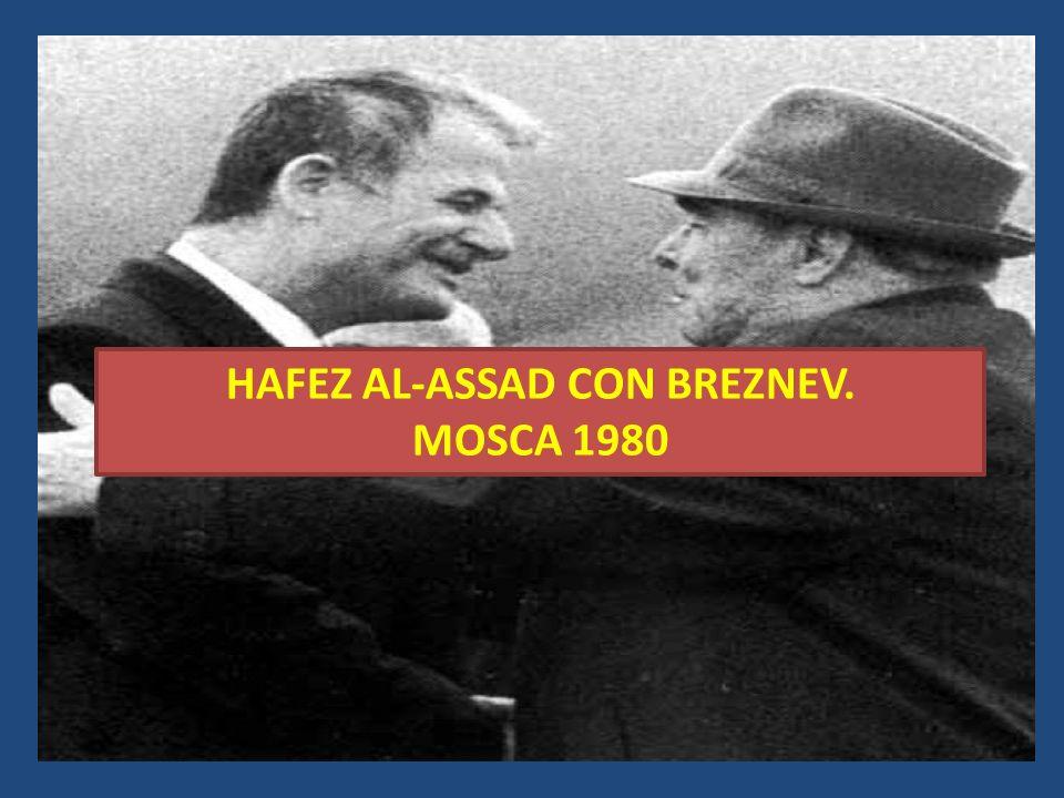 HAFEZ AL-ASSAD CON BREZNEV. MOSCA 1980