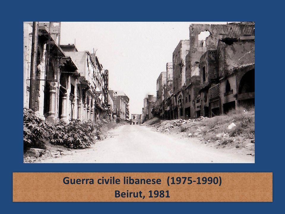 Guerra civile libanese (1975-1990) Beirut, 1981 Guerra civile libanese (1975-1990) Beirut, 1981