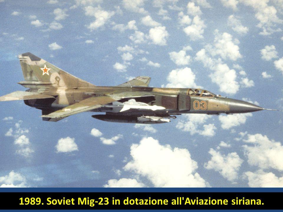 1989. Soviet Mig-23 in dotazione all'Aviazione siriana.