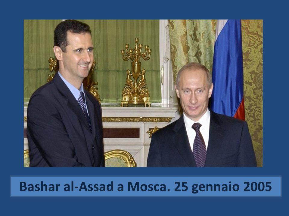Bashar al-Assad a Mosca. 25 gennaio 2005