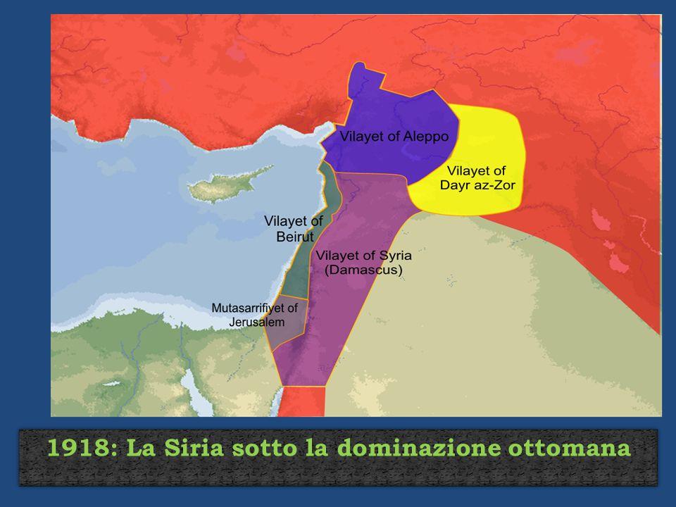 1918: La Siria sotto la dominazione ottomana