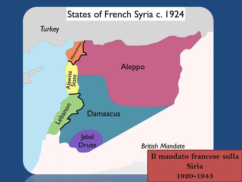 Il mandato francese sulla Siria 1920-1943