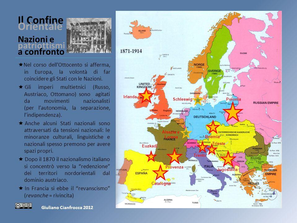 Il Confine Orientale Nazioni e patriottismi a confronto Nel corso dellOttocento si afferma, in Europa, la volontà di far coincidere gli Stati con le Nazioni.