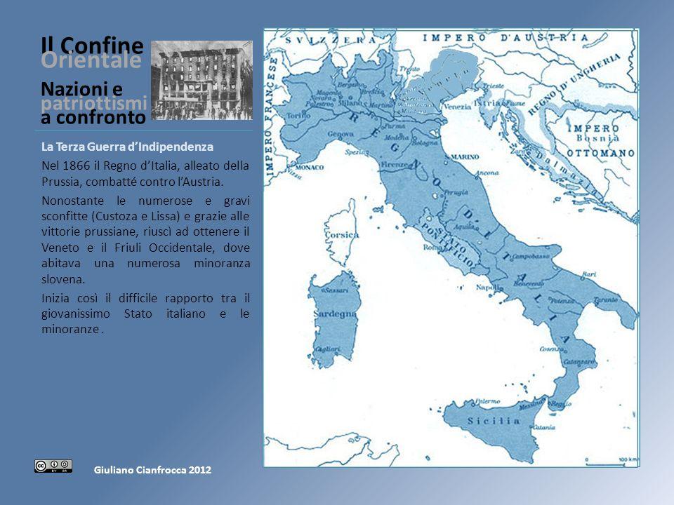Il Confine Orientale Nazioni e patriottismi a confronto LIrredentismo Negli anni Settanta del XIX secolo nasce in Italia lIrredentismo, con la rivendicazione di Trento e Trieste, città di cultura italiana.