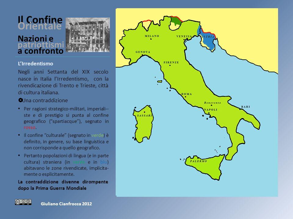 Il Confine Orientale Nazioni e patriottismi a confronto Sotto lImpero Austriaco (1866-1918) Come gli irredentisti italiani, anche i nazionalisti sloveni erano una minoranza.