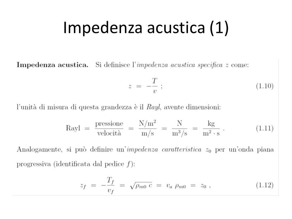 Impedenza acustica (2)