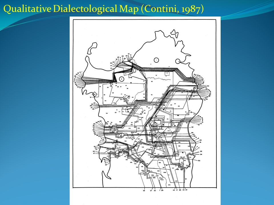 Qualitative Dialectological Map (Contini, 1987)