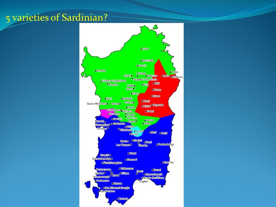 5 varieties of Sardinian?