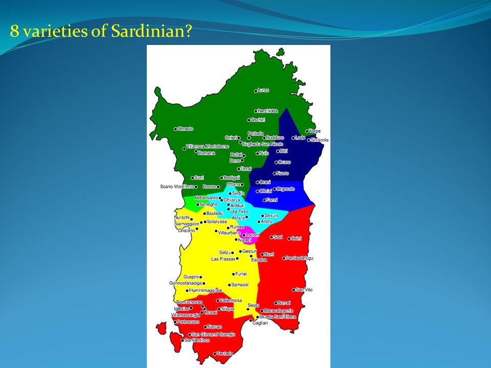 8 varieties of Sardinian?