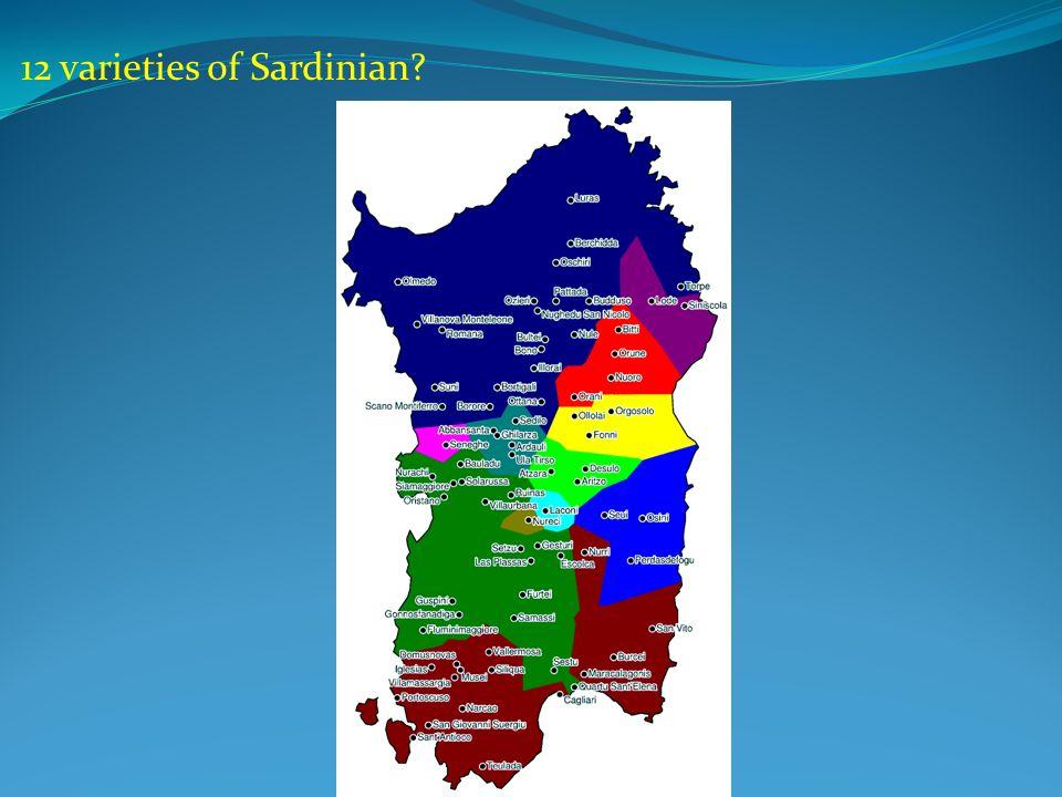 12 varieties of Sardinian?