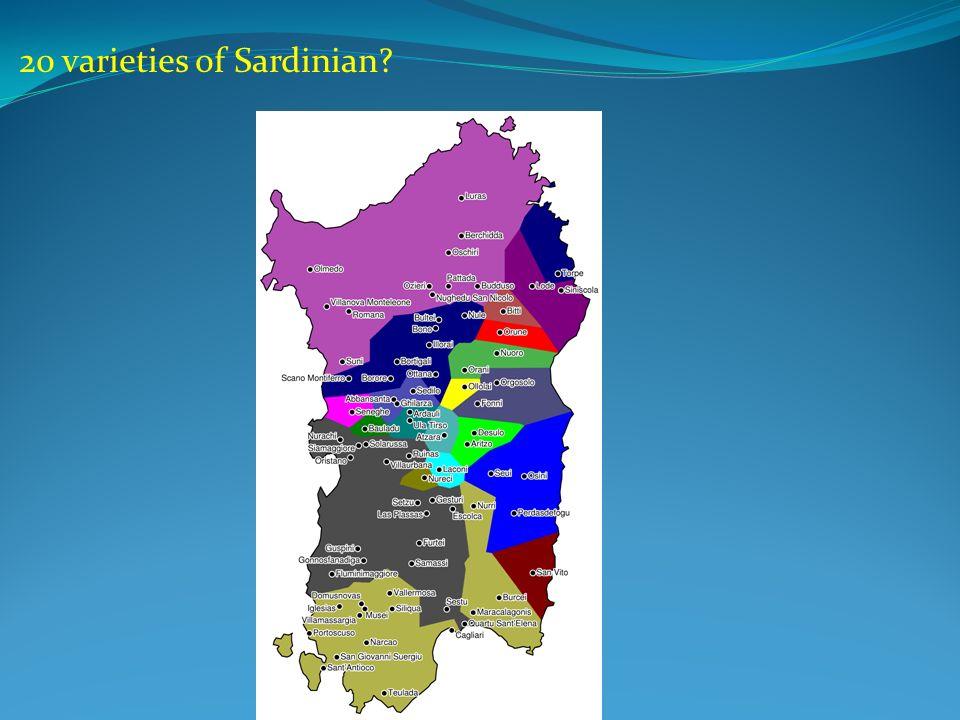 20 varieties of Sardinian?