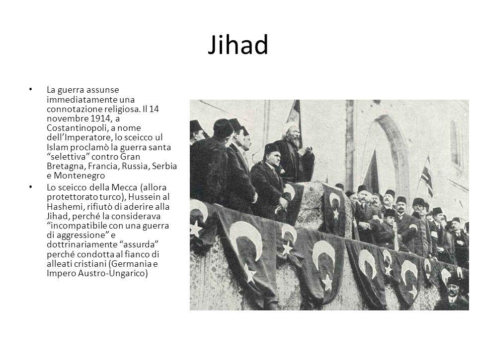 Jihad La guerra assunse immediatamente una connotazione religiosa.