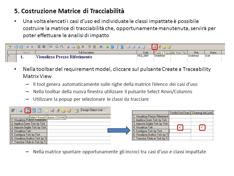 6 – Problemi aperti La costruzione di matrici di tracciabilità legate ai singoli moduli applicativi è dettata dallesigenza di avere matrici di dimensione contenuta e quindi facilmente manutenibili.