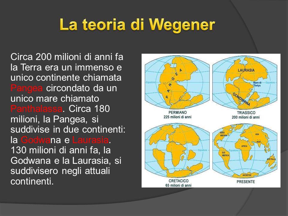 Circa 200 milioni di anni fa la Terra era un immenso e unico continente chiamata Pangea circondato da un unico mare chiamato Panthalassa.