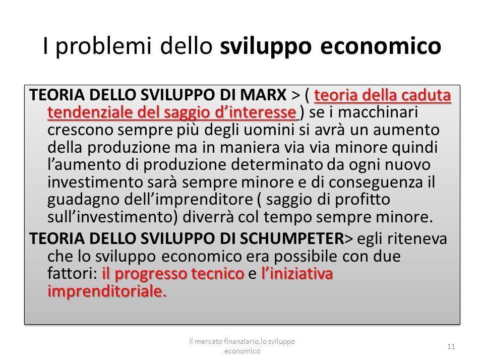 I problemi dello sviluppo economico teoria della caduta tendenziale del saggio dinteresse TEORIA DELLO SVILUPPO DI MARX > ( teoria della caduta tenden