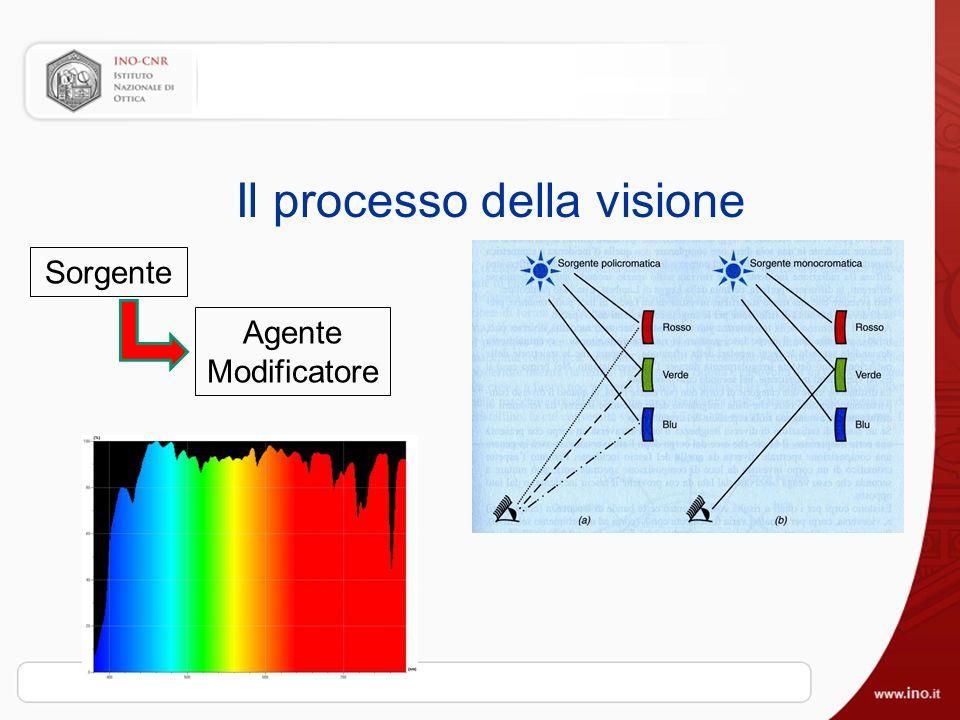 Il processo della visione Sorgente Agente Modificatore