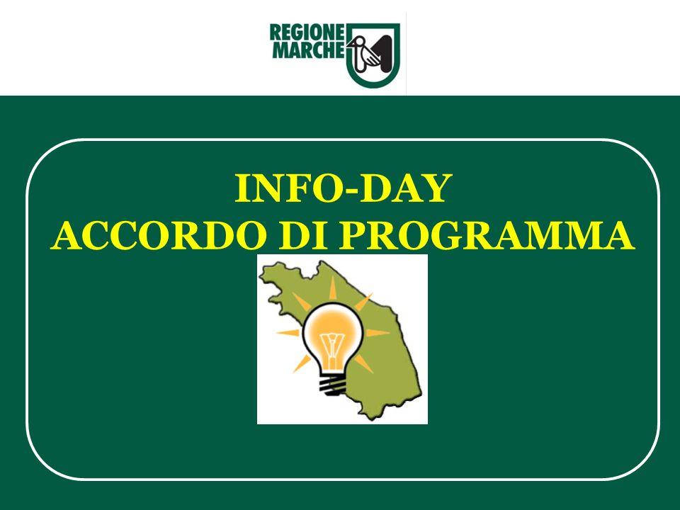 INFO-DAY ACCORDO DI PROGRAMMA