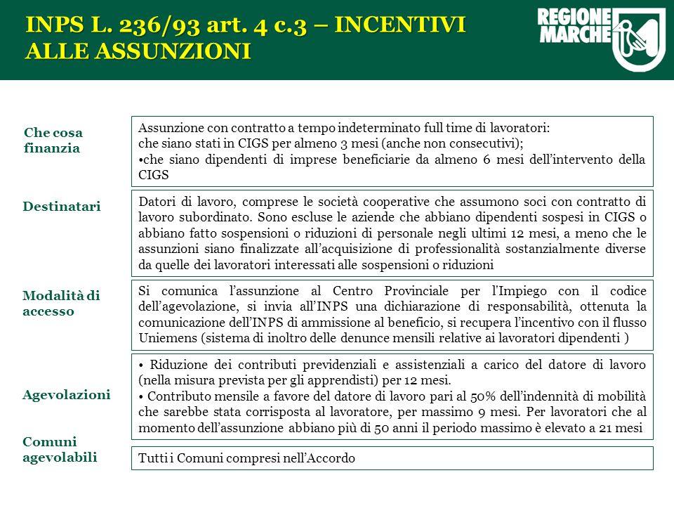 INPS L. 236/93 art.