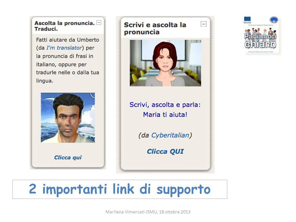 2 importanti link di supporto Marilena Vimercati-ISMU, 18 ottobre 2013