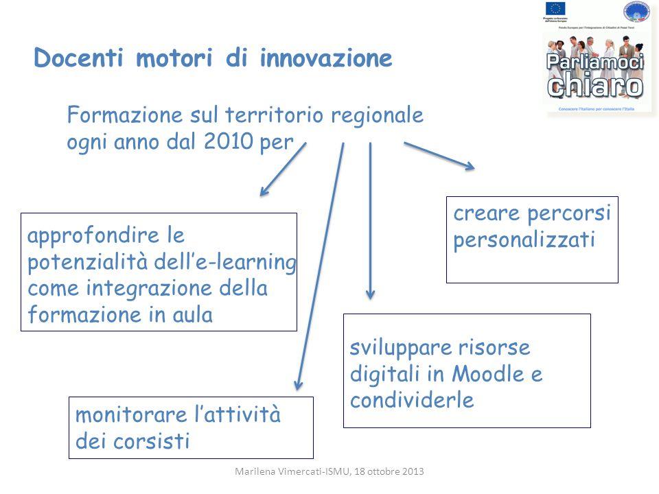 approfondire le potenzialità delle-learning come integrazione della formazione in aula creare percorsi personalizzati Docenti motori di innovazione Fo