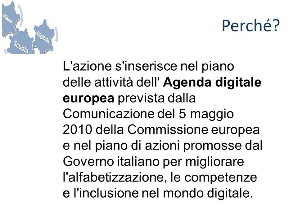 L'azione s'inserisce nel piano delle attività dell' Agenda digitale europea prevista dalla Comunicazione del 5 maggio 2010 della Commissione europea e