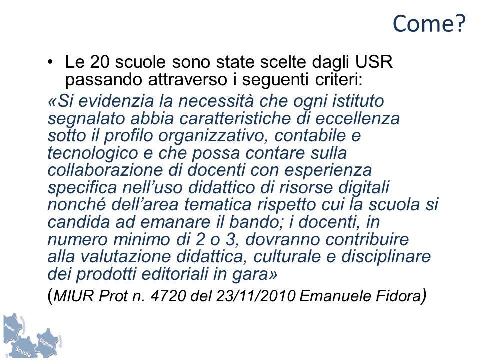 Fasi Serie di incontri a Roma (sett/dic 2012) presso il Ministero per la definizione dei Capitolati Tecnici sulla base delle linee guida preparate da un Comitato tecnico/scientifico.