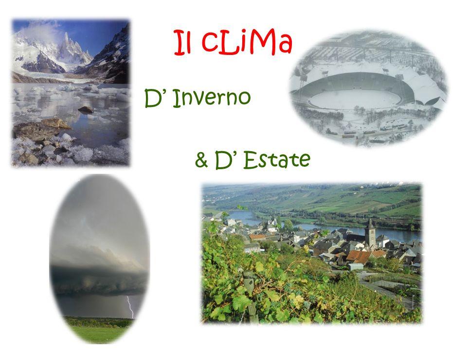 Il cLiMa D Inverno & D Estate