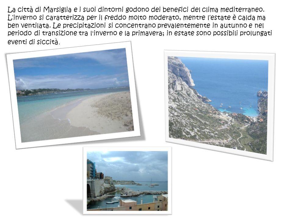 La città di Marsiglia e i suoi dintorni godono dei benefici del clima mediterraneo. Linverno si caratterizza per il freddo molto moderato, mentre lest
