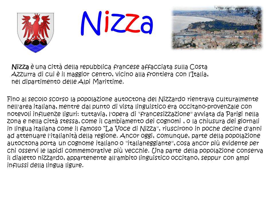Nizza Nizza è una città della repubblica francese affacciata sulla Costa Azzurra di cui è il maggior centro, vicino alla frontiera con lItalia, nel di