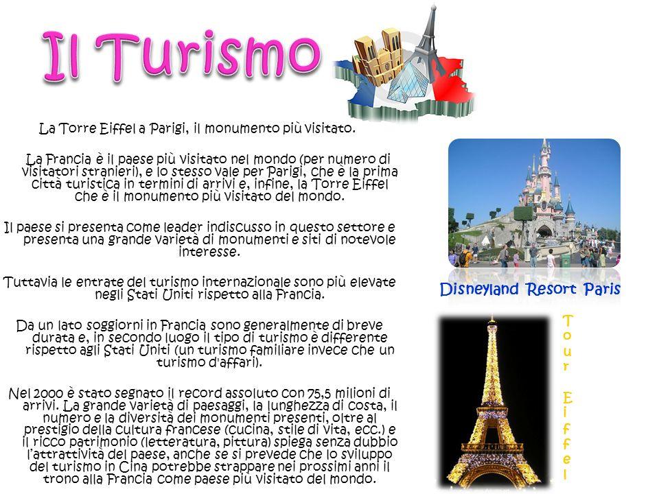La Torre Eiffel a Parigi, il monumento più visitato. La Francia è il paese più visitato nel mondo (per numero di visitatori stranieri), e lo stesso va
