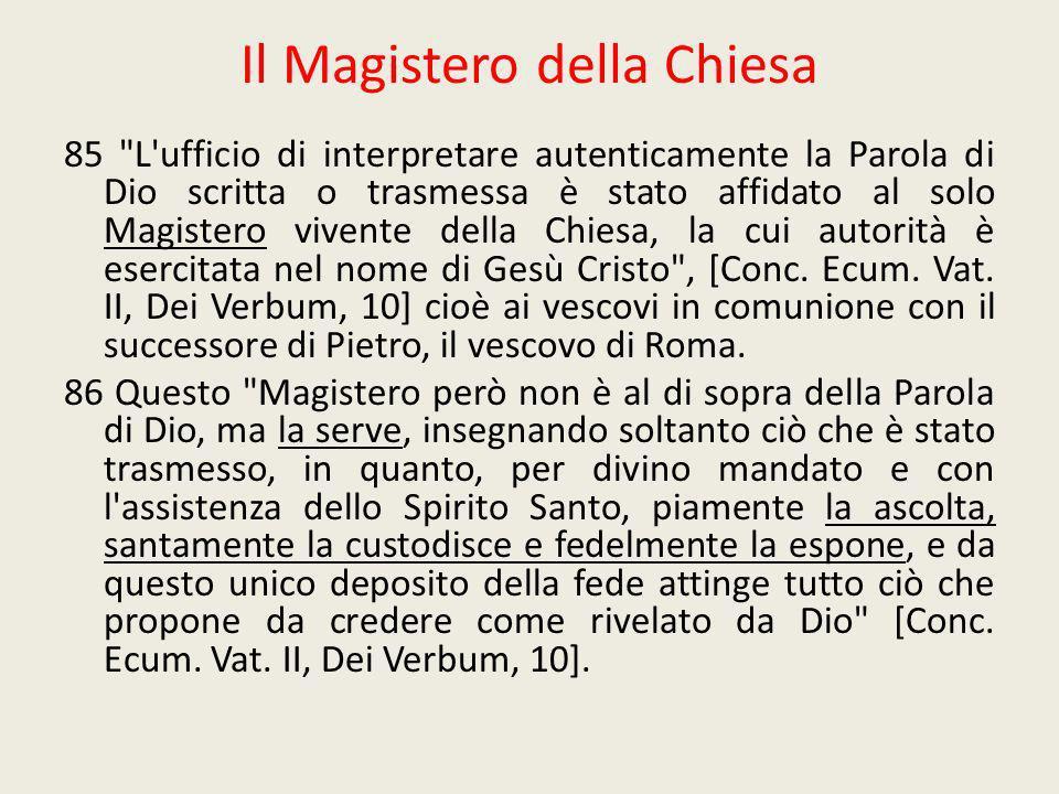 Il Magistero della Chiesa 85