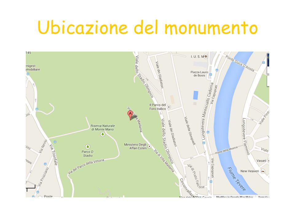 Ubicazione del monumento