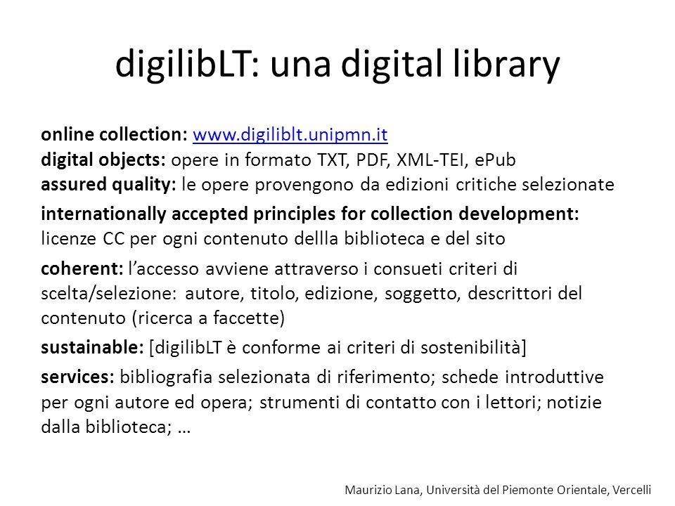 Maurizio Lana, Università del Piemonte Orientale, Vercelli servizi digilibLT