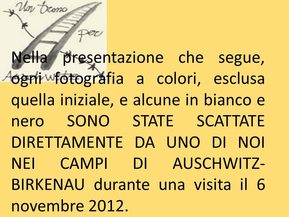 Nella presentazione che segue, ogni fotografia a colori, esclusa quella iniziale, e alcune in bianco e nero SONO STATE SCATTATE DIRETTAMENTE DA UNO DI