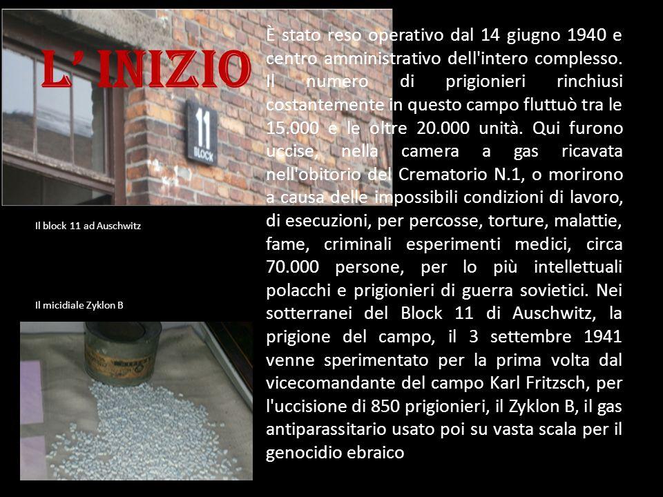L inizio È stato reso operativo dal 14 giugno 1940 e centro amministrativo dell'intero complesso. Il numero di prigionieri rinchiusi costantemente in