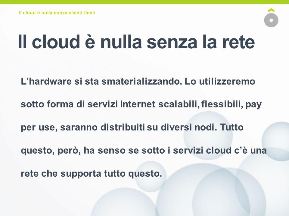 Il cloud è nulla senza clienti finali Lhardware si sta smaterializzando.