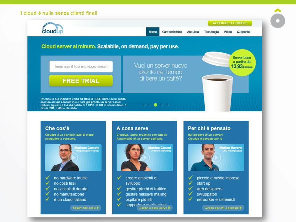 Il cloud è nulla senza clienti finali